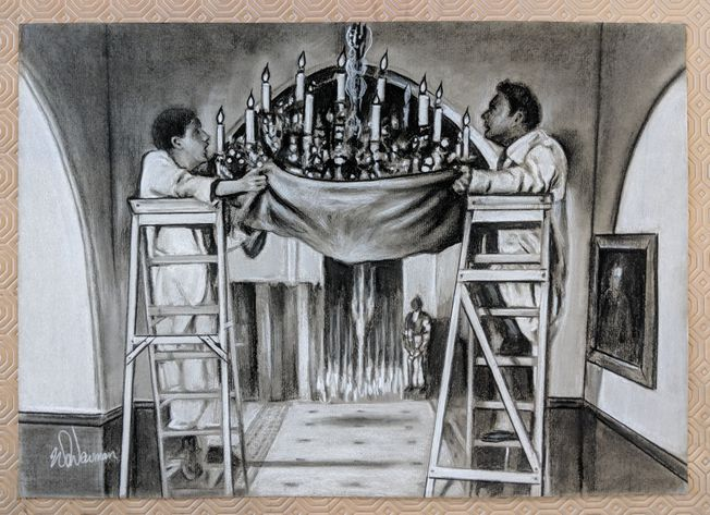 #6 Only Fools and Horses 'The Chandelier' A3 quality Art Print