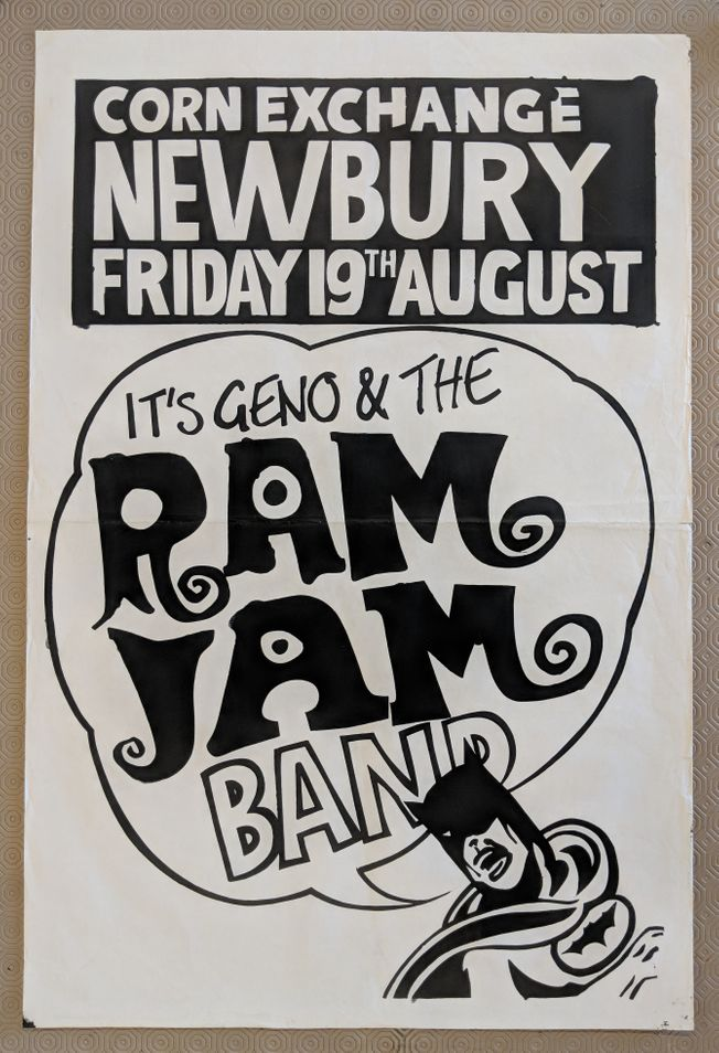 Original Geno Washington & The Ram Jam Band 1966 gig poster