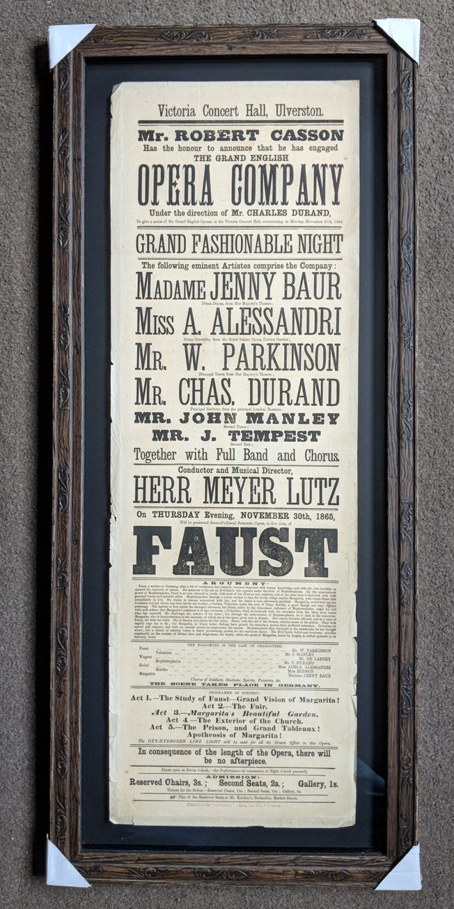 'Faust' Original 19th Century Operatic Poster
