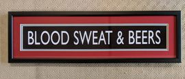 Blood Sweat & Beers Mini Sign (West Ham Utd)