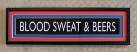Blood Sweat & Beers (Crystal Palace FC) Mini Sign