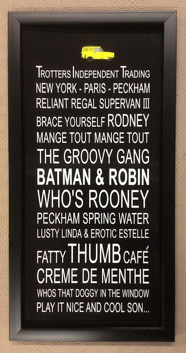 Only Fools and Horses word art 'Batman & Robin'