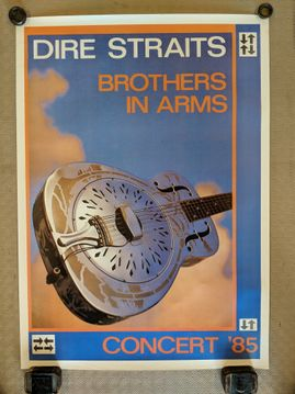 Original Dire Straits 'Brothers in Arms' 1985 tour poster