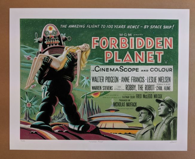 Forbidden Planet Giclee Limited Edition Art by Bill Newman