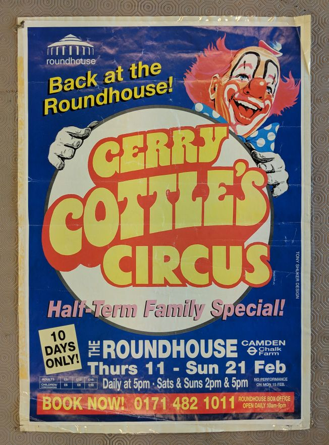 Gerry Cottle's Circus (Roundhouse) 1998-1999 poster
