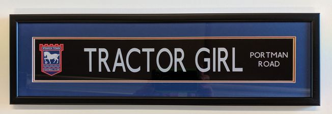 ITFC 'Tractor Girl' High Quality street display frame