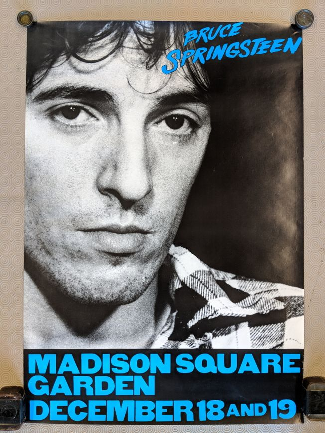 Original Springsteen 1980 'The River Tour' Madison Square Garden NY. promo poster
