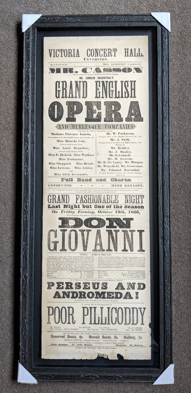 Don Giovanni Original 19th Cent. Operatic poster C1866