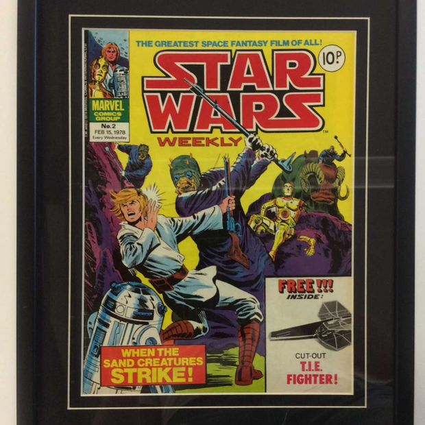 Starwars old poster framed