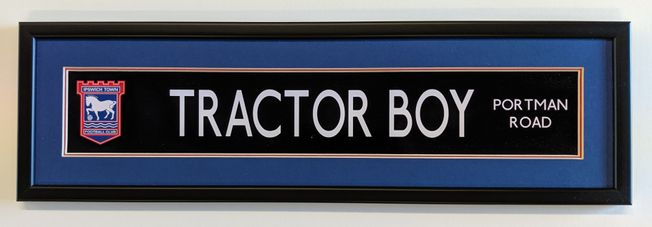 ITFC 'Tractor Boy' High Quality Street Display frame