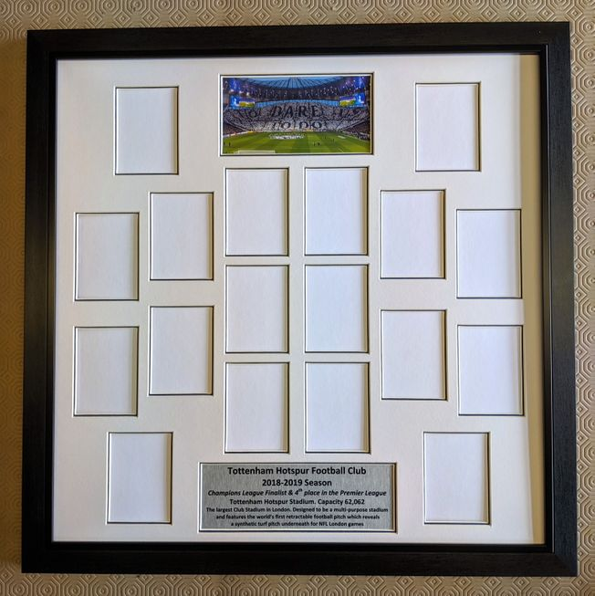 Tottenham Hotspur 2018-19 Display Frame