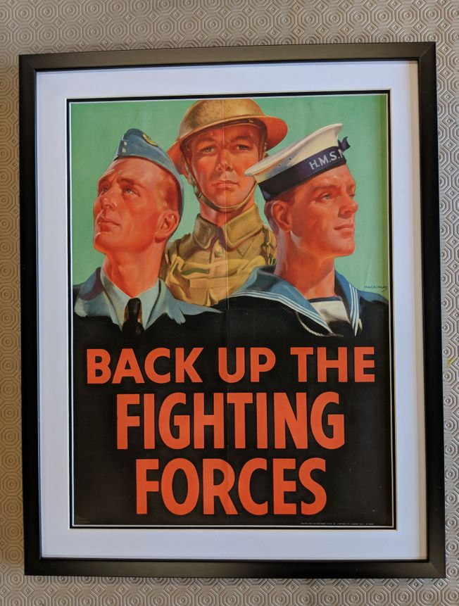 Back up the Fighting Forces ORIGINAL 1940's war poster