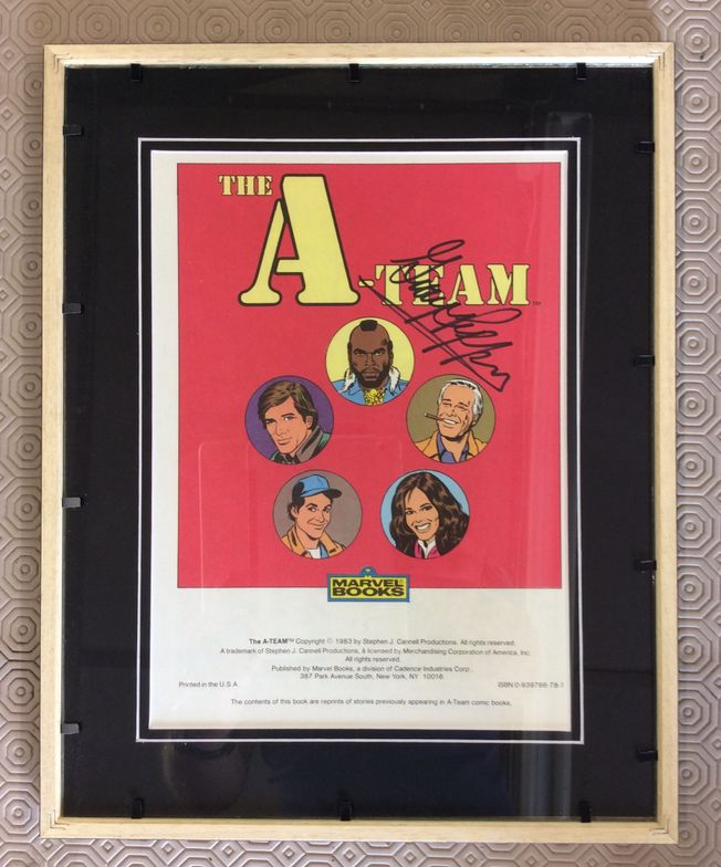 The A Team Comic Art front 'signed by George Peppard'