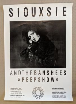 Original Siouxsie and the Banshees 'Peepshow' 1988 tour poster