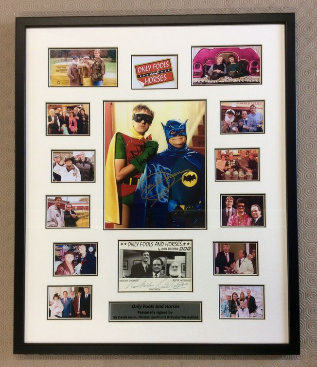 Only Fools and Horses triple signed montage