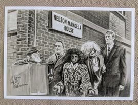 #5 Only Fools & Horses' Nelson Mandela House A3 quality Art Print