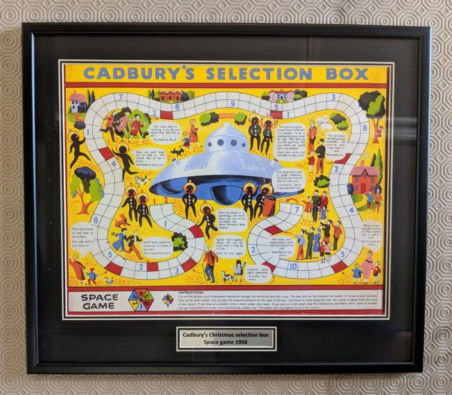 Cadbury's Chocolate Selection Box Art print 'Space Game'